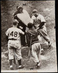 Baseball Collectibles:Photos, 1945 World Series - Cubs vs. Tigers - Oversized Photograph Lot of3.... (Total: 3 items)