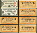 Obsoletes By State:Iowa, Clarinda, IA- Clarinda Chamber of Commerce $5 Apr. 10, 1933, Six Examples Very Fine;. Hamtramck, MI- City of Hamtramck... (Total: 8 notes)