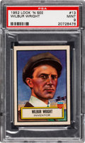 Non-Sport Cards:General, 1952 Topps Look 'N See Wilbur Wright #13 PSA Mint 9 - None Higher. ...