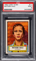 Non-Sport Cards:General, 1952 Topps Look 'N See Nathan Hale #11 PSA Mint 9 - None Higher. ...