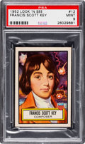 Non-Sport Cards:General, 1952 Topps Look 'N See Francis Scott Key #12 PSA Mint 9 - None Higher. ...