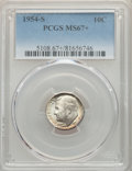 Roosevelt Dimes, 1954-S 10C MS67+ PCGS. PCGS Population: (169/3 and 16/0+). NGC Census: (634/3 and 4/0+). CDN: $40 Whsle. Bid for problem-fr...