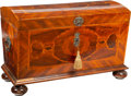 Furniture : Continental, A Continental Mahogany Marquetry Coffer, 18th century. 30-3/4 x 48 x 25-1/4 inches (78.1 x 121.9 x 64.1 cm). ...