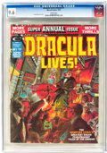 Magazines:Horror, Dracula Lives Annual #1 (Marvel, 1975) CGC NM+ 9.6 White pages....