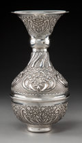 Silver Holloware, Continental:Holloware, An Egyptian Repoussé Silver Vase, Cairo, 1946-1947. Marks: (assay mark-900), (lotus), (date mark) . 12-1/2 x 6-1/2 inches (3...