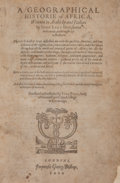 Books:Travels & Voyages, Johannes Leo Africanus. A Geographical Historie of Africa. Written in Arabicke and Italian... Translated and colle...