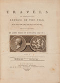 Books:Travels & Voyages, James Bruce. Travels to Discover the Source of the Nile. In the Years 1768[-1773]. In Five Volumes. Edinburgh: P... (Total: 5 Items)