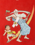 Original Comic Art:Covers, Norman Mingo MAD #37 Cover Painting Original Art (EC,1958)....
