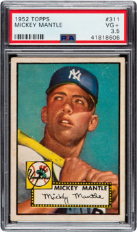 1952 Topps Mickey Mantle #311 PSA VG+ 3.5