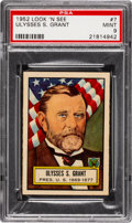 Non-Sport Cards:General, 1952 Topps Look 'N See Ulysses S. Grant #7 PSA Mint 9 - NoneHigher. ...