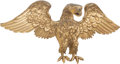 Carvings, A Carved and Giltwood American Eagle Sculpture, 20th century . 20-1/4 x 45 x 15-1/2 inches (51.4 x 114.3 x 39.4 cm). PROPE...