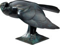Sculpture, Geoffrey Dashwood (British, b. 1947). Carrion Crow. Bronze with blue patina. 10-1/2 x 16-1/2 x 9 inches (26.7 x 41.9 x 2...