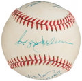 Autographs:Baseballs, 500 Home Run Club Multi-Signed Baseball (11 Signatures). ...