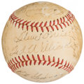 Autographs:Baseballs, 1951 Boston Red Sox Team Signed Baseball (23 Signatures)....