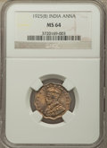 India:British India, India: British India. George V Pair of Certified Annas NGC, ... (Total: 2 coins)