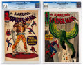 Silver Age (1956-1969):Superhero, The Amazing Spider-Man #47 and 48 CGC-Graded Group (Marvel, 1967).... (Total: 2 )