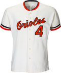 Baseball Collectibles:Uniforms, 1972 Earl Weaver Game Worn & Signed Baltimore Orioles Jersey with Special Cigarette Pouch & Hand Written Retirement Notes. ...