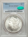 Morgan Dollars: , 1880-S $1 MS66+ PCGS. CAC. PCGS Population: (11112/2544 and 512/333+). NGC Census: (11788/3525 and 343/125+). MS66. Mintage...