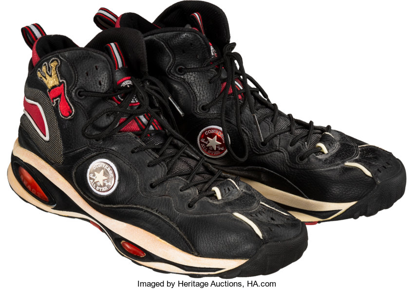 506e0748fc38 1997-98 Dennis Rodman Game Worn Shoes. ... Basketball Collectibles ...