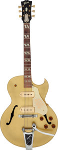 Musical Instruments:Electric Guitars, 1953 Gibson ES-295 Gold Archtop Electric Guitar, Serial #Y-5935....