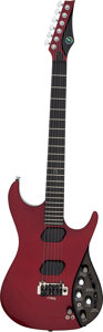Musical Instruments:Electric Guitars, 2008 Moog E1 Red Solid Body Electric Guitar, Serial # E0565....