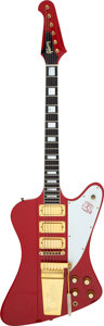 Musical Instruments:Electric Guitars, 1964 Gibson Firebird VII Ember Red Solid Body Electric Guitar, Serial # 155928.. ...