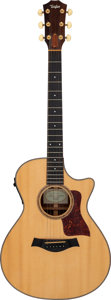 Musical Instruments:Acoustic Guitars, 2001 Taylor 712-CE Natural Acoustic Electric Guitar, Serial # 20010917132....