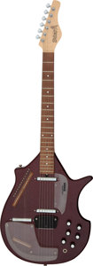 Musical Instruments:Miscellaneous, Circa 2001 Jerry Jones Red Sitar, Serial # 015565....