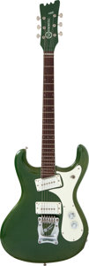Musical Instruments:Electric Guitars, 1988 Mosrite 1988 Diamond Money Green Solid Body Electric Guitar, Serial # V0788....