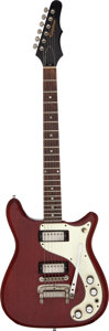 Musical Instruments:Electric Guitars, 1964 Epiphone Wilshire Cherry Solid Body Electric Guitar, Serial #285514....