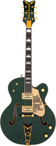 Musical Instruments:Electric Guitars, 2005 Gretsch G 6136i Irish Falcon Green Semi-Hollow Body Electric Guitar, Serial # JT05107156....