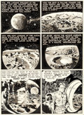 "Original Comic Art:Panel Pages, Wally Wood and Will Eisner The Spirit Sunday Strip ""Outer Space"" Page 1 Original Art dated 5-27-52 (Will Eisner, 1... (Total: 3 Items)"