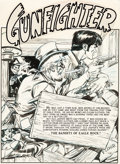 Original Comic Art:Splash Pages, Graham Ingels Gunfighter #12 Splash Page 1 Original Art (EC,1949)....