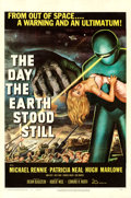 """Movie Posters:Science Fiction, The Day the Earth Stood Still (20th Century Fox, 1951). Very Fine- on Linen. One Sheet (27"""" X 41"""").. ..."""