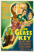 "Movie Posters:Film Noir, The Glass Key (Paramount, 1942). Very Good on Linen. One Sheet (27"" X 41"").. ..."