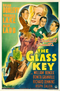 """The Glass Key (Paramount, 1942). Very Good on Linen. One Sheet (27"""" X 41"""")"""
