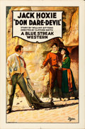 """Movie Posters:Western, Don Dare-Devil (Universal, 1925). Folded, Very Fine. One Sheet (27"""" X 41"""").. ..."""