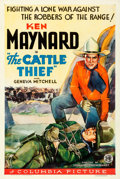 """Movie Posters:Western, The Cattle Thief (Columbia, 1936). Very Fine- on Linen. One Sheet (27"""" X 41"""").. ..."""