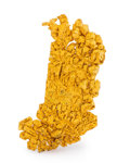 Minerals:Golds, Crystallized Gold. Round Mountain District. Toquima Range, Nye Co.. Nevada, USA. 1.09 x 0.62 x 0.15 inches (2.76 x 1.57 x ...