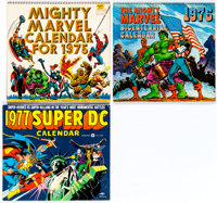 Marvel and DC Comic-Related Calendars for 1975, 1976, and 1977 (Marvel/DC, 1974-76).... (Total: 3 Original Art)