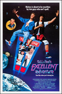 """Bill & Ted's Excellent Adventure & Other Lot (Orion, 1989) Rolled, Very Fine+. One Sheets (2) (27""""..."""