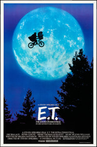 "E.T. The Extra-Terrestrial (Universal, 1982) Rolled, Very Fine-. One Sheet (26.75"" X 40.5""). Bicycle Style, Jo..."