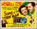 """Movie Posters:Mystery, Song of the Thin Man (MGM, 1947). Rolled, Fine/Very Fine. Half Sheet (22"""" X 28"""") Style A. Mystery.. ..."""
