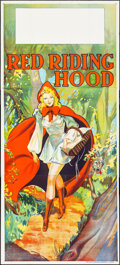 """Movie Posters:Fantasy, Pantomime Theatre - Red Riding Hood (Taylors Printers, c. 1930).Folded, Very Fine. Flat Folded Three Sheet (40"""" X 88""""). Fan..."""