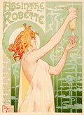 "Movie Posters:Miscellaneous, Absinthe Robette (1896). Very Fine- on Linen. Belgian Advertising Poster (31.75"" X 43"") Henri Privat Livemont Artwork.. ..."