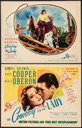 """Movie Posters:Romance, The Cowboy and the Lady (United Artists, 1938) Very Fine+. Title Lobby Card & Lobby Card (11"""" X 14""""). Romance.... (Total: 2 Items)"""