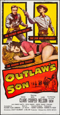 "Movie Posters:Western, Outlaw's Son (United Artists, 1957) Folded, Very Fine-. Three Sheet (41""X 79""). Western.. ..."