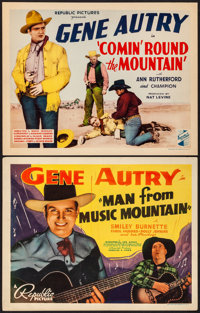 """Man from Music Mountain & Other Lot (Republic, 1938) Very Fine. Title Lobby Cards (2) (11"""" X 14""""). Western..."""