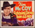 """Movie Posters:Western, Lightning Carson Rides Again (Victory, 1938) Very Fine/Near Mint. Title Lobby Card (11"""" X 14""""). Western...."""