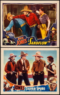 """Silver Spurs & Other Lot (Universal, 1936) Very Fine+. Lobby Cards (2) (11"""" X 14""""). Western.... (Total: 2..."""